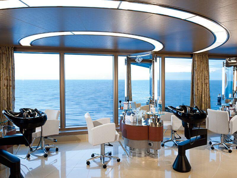 Salon de coiffure du bateau de croisière MS Nieuw Amsterdam