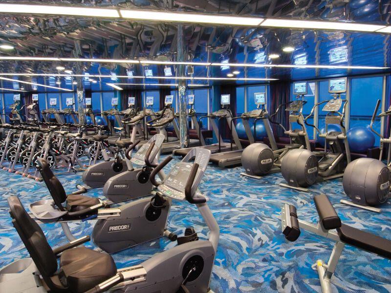 Salle de fitness du bateau de croisière MS Noordam