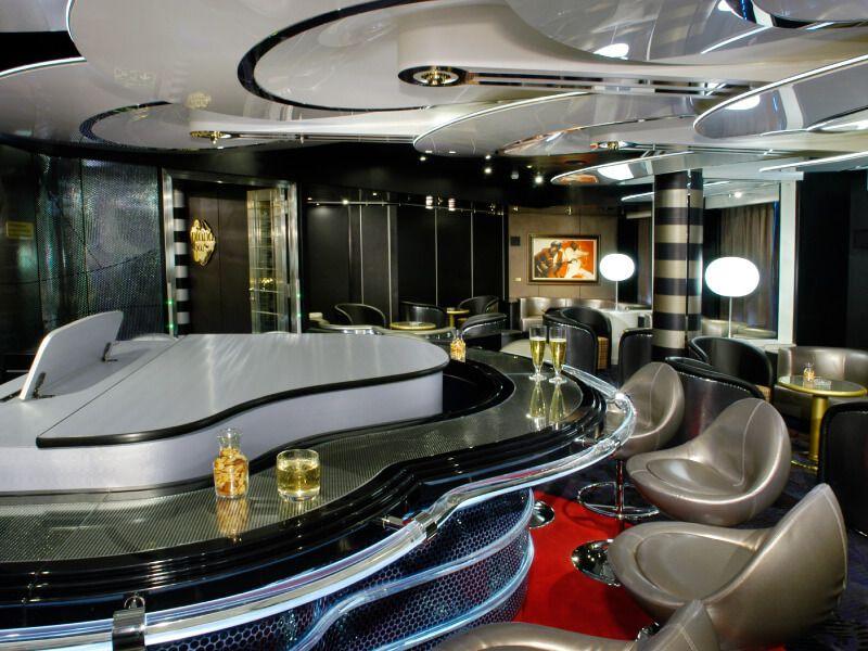 Piano Bar du bateau de croisière MS Oosterdam