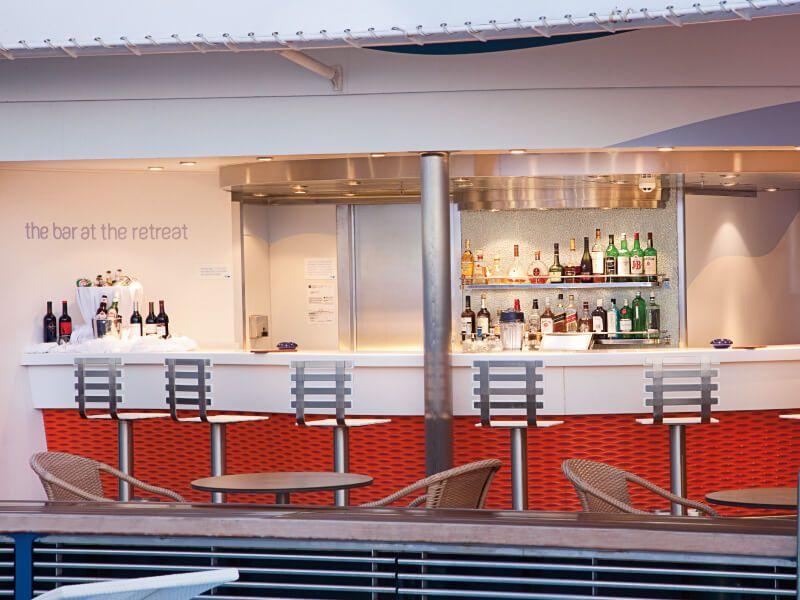 Bar RETREATS du bateau de croisière MS Rotterdam