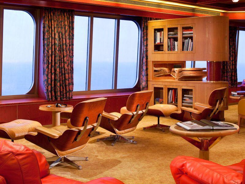 Explorers Café du bateau de croisière MS Rotterdam
