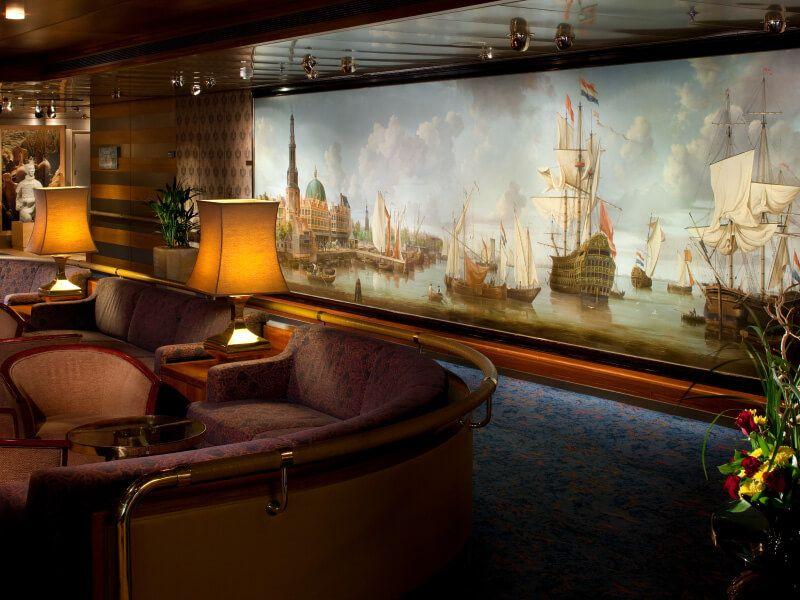 Explorers Lounge du bateau de croisière MS Rotterdam