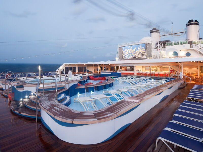 Jacuzzi du bateau de croisière MS Rotterdam
