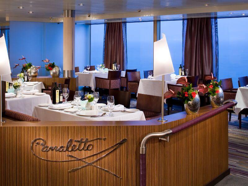 Restaurant CANALETTO du bateau de croisière MS Veendam