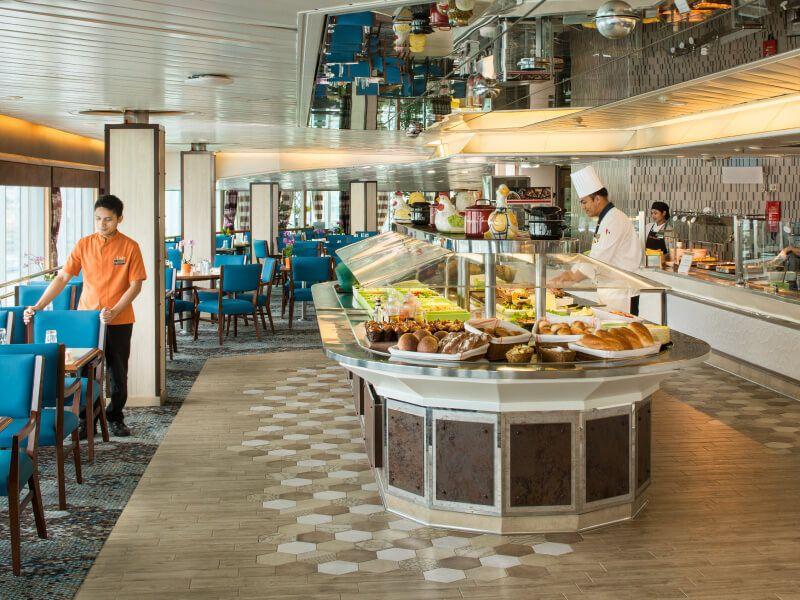 Restaurant Lido du bateau de croisière MS Volendam