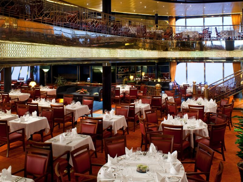 Restaurant Dinning Room du bateau de croisière Ms Zaandam