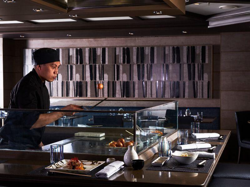 Cuisine Asiatique du bateau de croisière Silver Muse