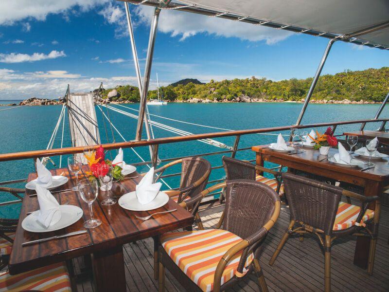Restaurant du bateau de croisière M Y Pegasus