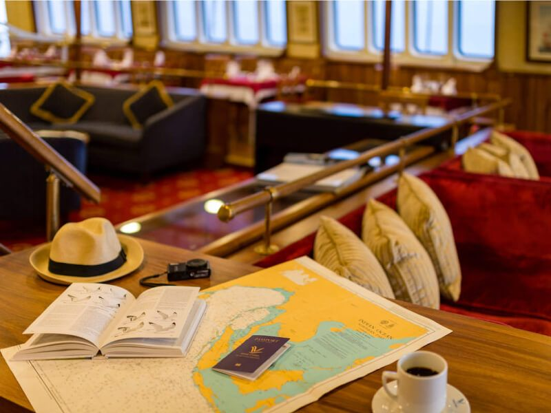 Café du bateau de croisière M S Panorama