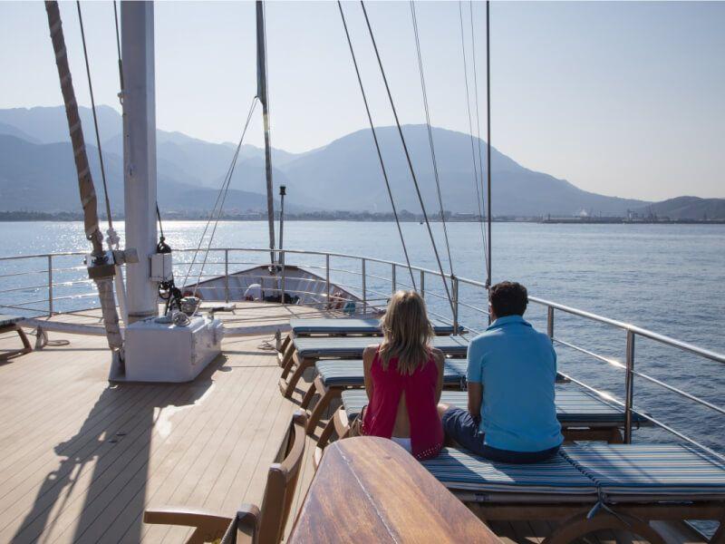 Pont soleil du bateau de croisière M S Panorama