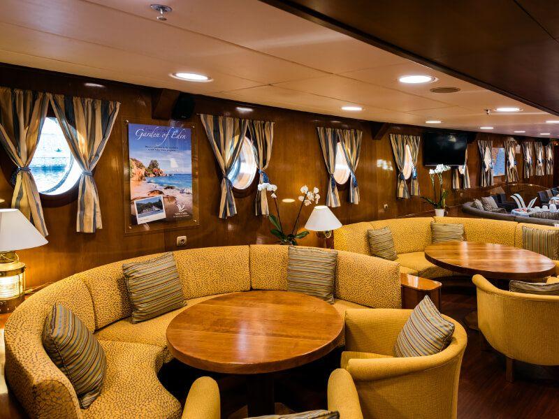 Lounge du bateau de croisière M S Galileo