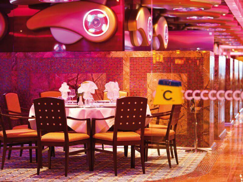 Restaurant l'Albatros du bateau de croisière Costa Deliziosa