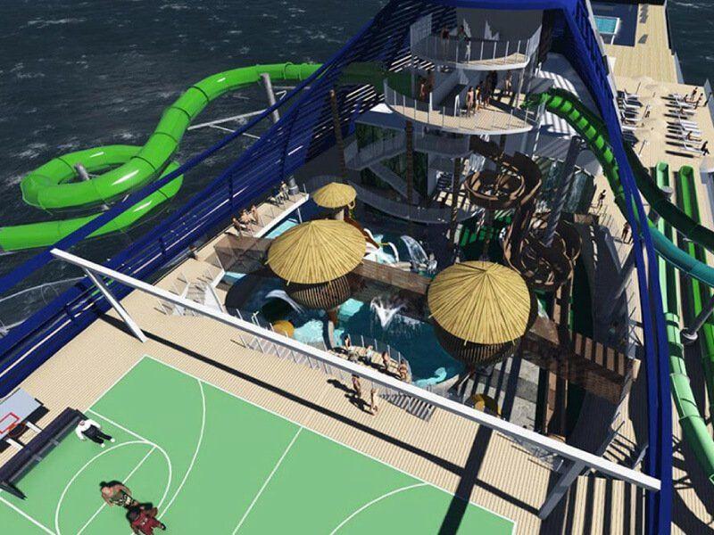 Parc Aquatique du bateau de croisière MSC Seaside