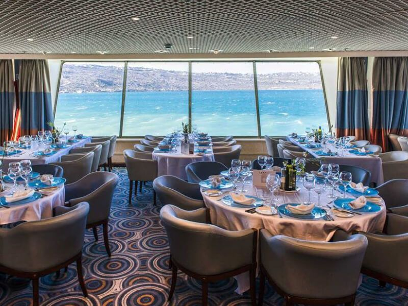Photo prise au Restaurant  du bateau de croisière Celestyal Nefeli