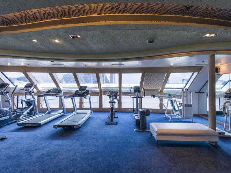 Salle de sport du bateau de croisière Celestyal Nefeli