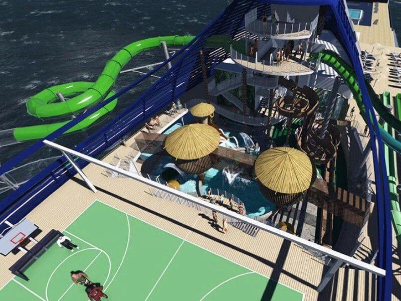 Parc Aquatique du bateau de croisière MSC Seaview