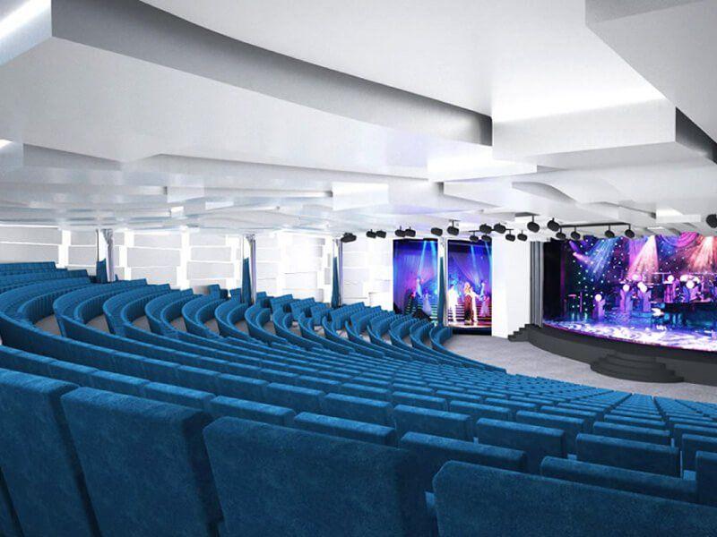 Théâtre du bateau de croisière MSC Seaview