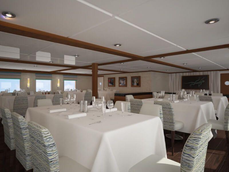 Photo prise du restaurant du bateau de croisière Celebrity Xperience