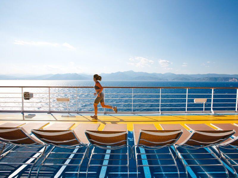 Piste de Jogging à bord du bateau de croisière Costa Pacifica