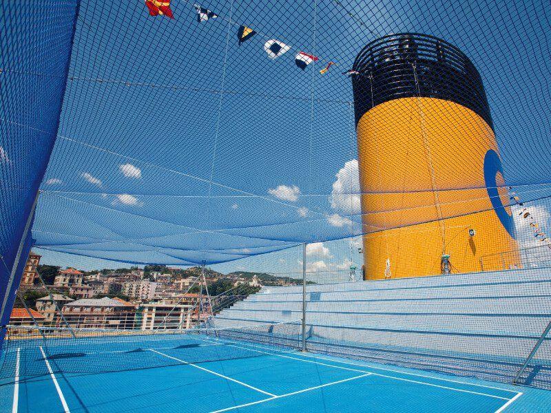 Terrain de sport du bateau de croisière Costa Pacifica