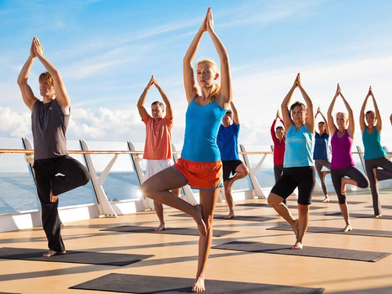 Cour Yoga du bateau de croisière Symphony of the Seas