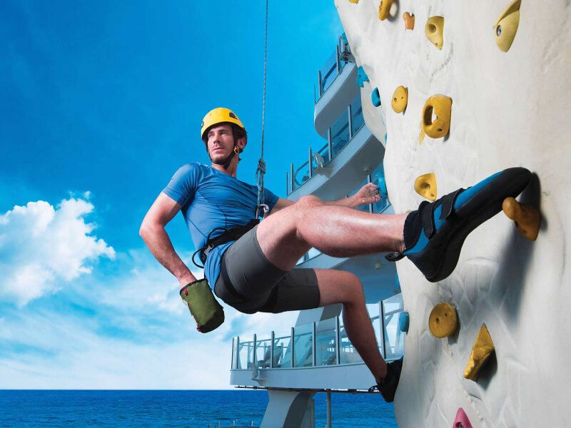 Mur escalade du bateau de croisière Symphony of the Seas