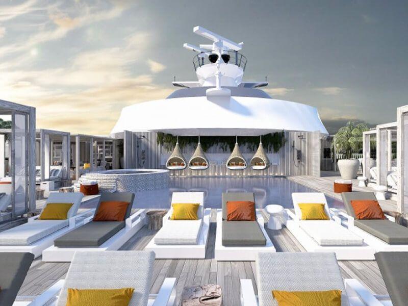 Terrasse du bateau de croisière Celebrity Edge