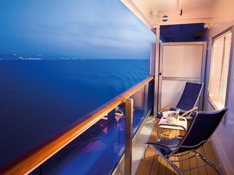 Vue d'un Balcon du bateau de croisière Costa Serena