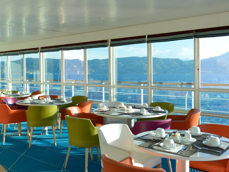 Restaurant du bateau de croisière Club Med 2