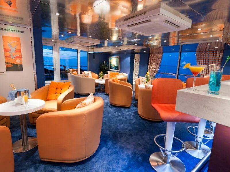 Salon bar du bateau MS Princesse d'Aquitaine