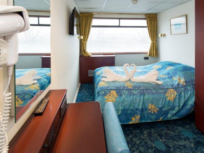 Cabine double du bateau MS Monet