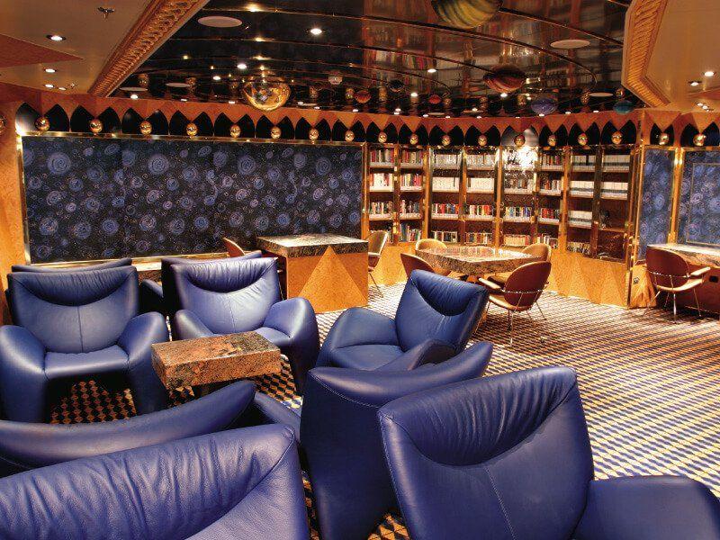 Bibliothèque du bateau de croisière Costa Fortuna