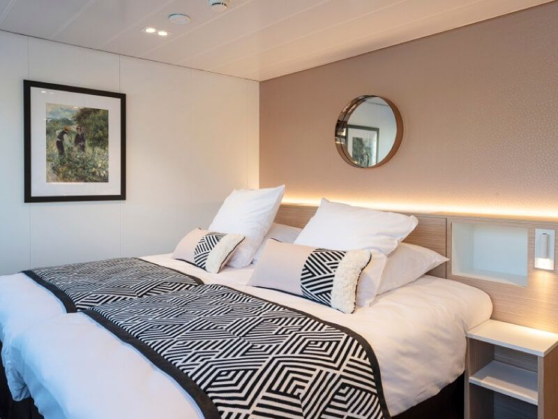 Cabine deux lits du bateau MS Renoir