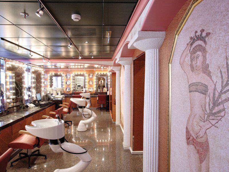 Salon de coiffure du bateau de croisière Costa Mediterranea