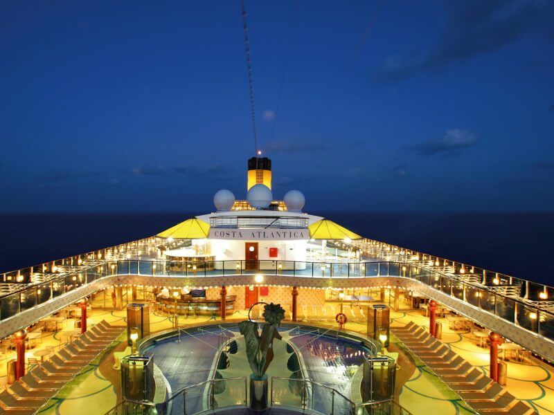 Vue de Haut  du bateau de croisière Costa Atlantica