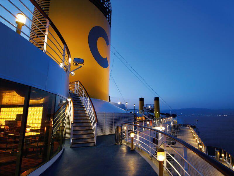 Vue du bateau de croisière Costa Atlantica