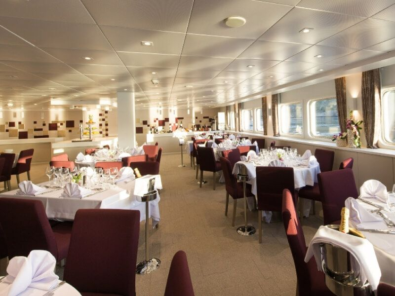 Restaurant du bateau MS Miguel Torga