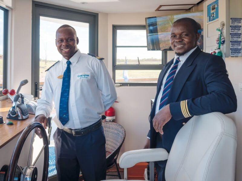 Commandant du bateau RV African Dream