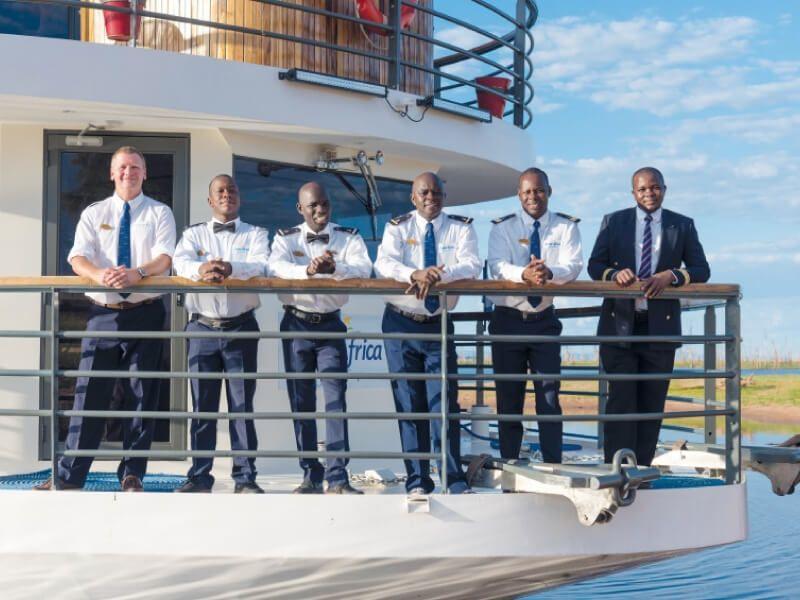 Équipage du bateau RV African Dream
