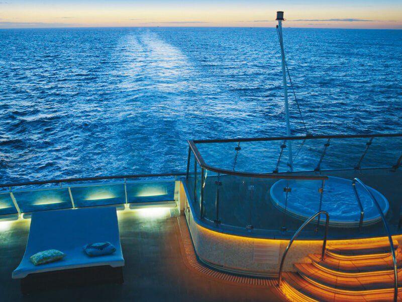 Solarium du bateau de croisière Costa NeoRomantica