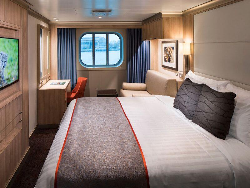 Cabine extérieure du bateau MS Nieuw Statendam