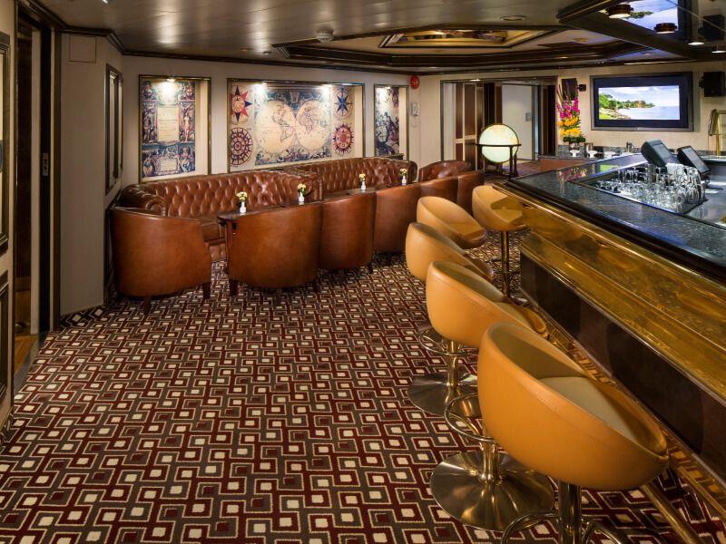 Photo du bar du bateau de croisière MS Prinsendam