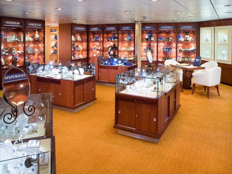 Boutique du bateau de croisière MS Prinsendam