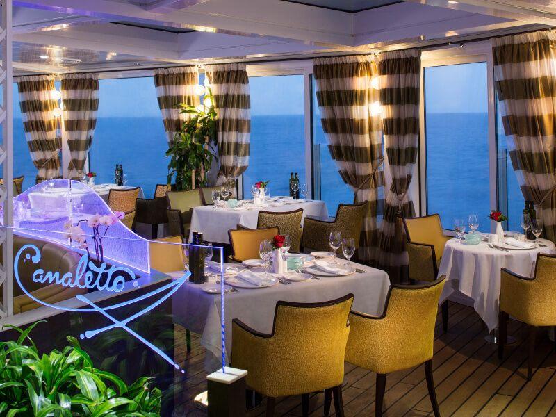 Restaurant CANALETTO du bateau de croisière MS Prinsendam