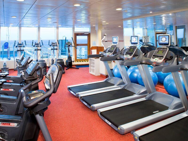 Salle de Fitness du bateau de croisière MS Prinsendam