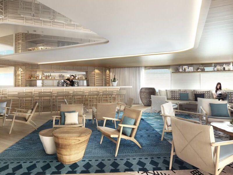 Bar du bateau de croisière de luxe Le Dumont D'Urville