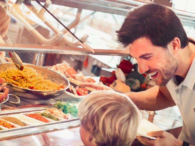 Restaurant self-service