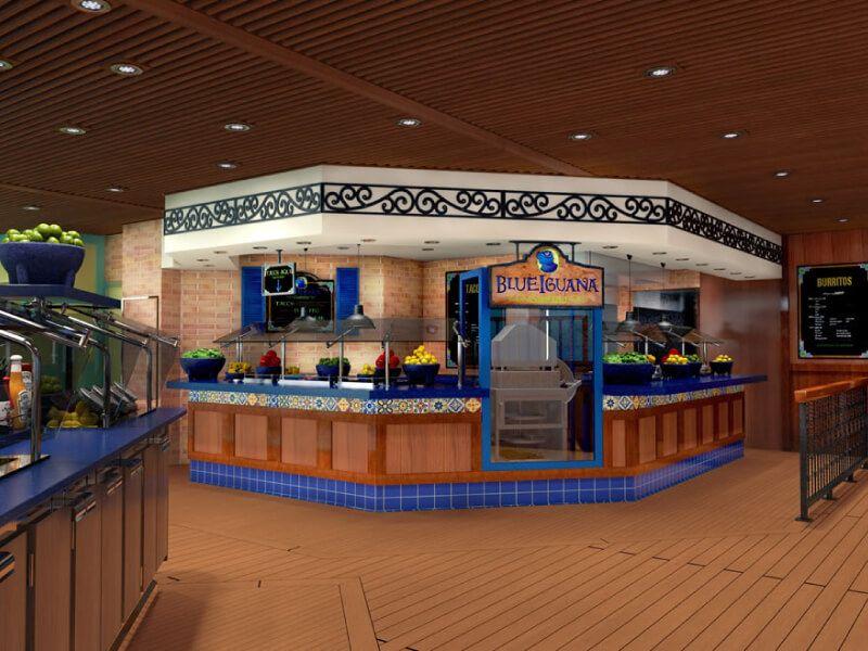 Blueiguana cantina du bateau de croisière Carnival Victory