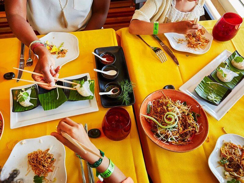 Jiji cuisine Asiatique du bateau de croisière Carnival Victory
