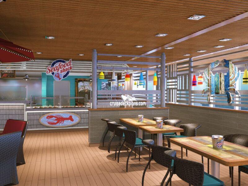 Seafood Shack du bateau de croisière Carnival Victory